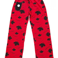 lazy one - canada eh yoga pant red