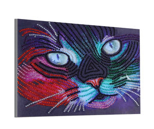 25 x 30 diamond painting (rhinestone) - kitty face HO49