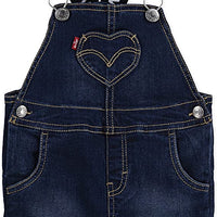 levis cruise logo strap denim shortall