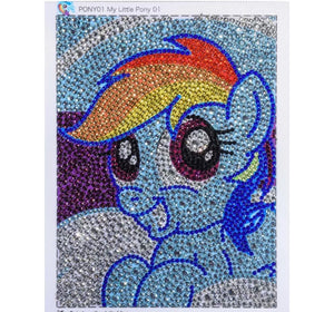 15 x 20 diamond painting (rhinestone) - blue pony AT016