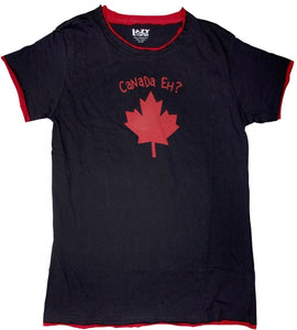 lazy one - canada eh adult fitted tee red