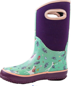 OAKI unicorn snow/rain boot
