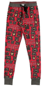lazy one don't wake the bear adult pj leggings