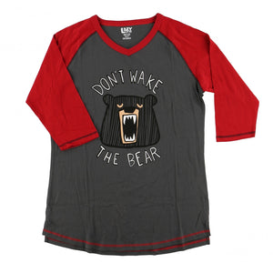 Lazy one don't wake the bear - adult top