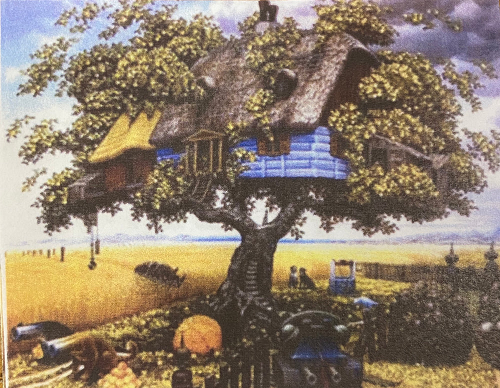 30 x 40 full round drill diamond painting - treehouse - J11428