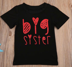 black and pink big sister shirt