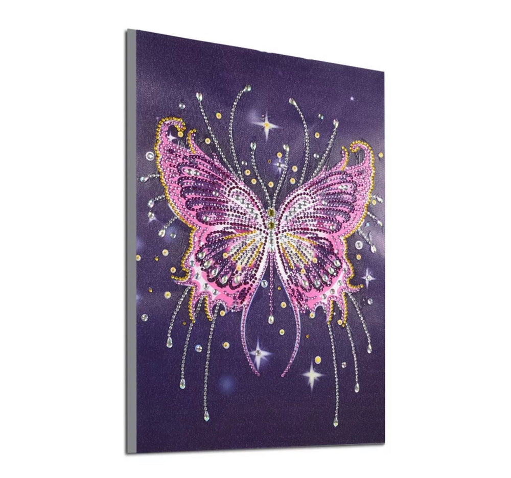 30 x 40 diamond painting (rhinestone) DZ099 purple butterfly