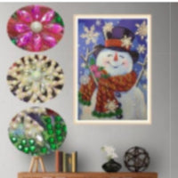 30 x 40 partial drill rhinestone diamond painting - snowman - DZ031
