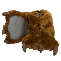 Lazy One - brown bear paw slipper