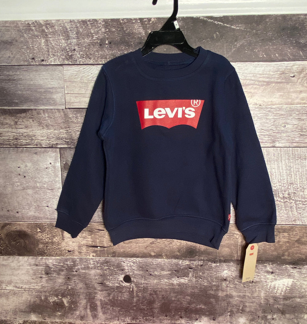 Levis graphic pullover navy and red