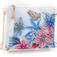 18 x 15 diamond painting shoulder bag - white