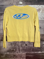 girls yellow billabong tee shirt size 8