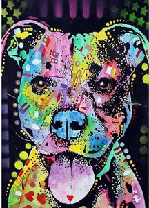 30 x 40 diamond painting full drill - doggie FKW1249