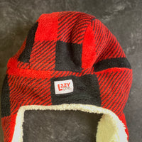 Lazy one critter cap red plaid bomber