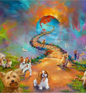 30 x 40 full drill diamond painting - all dogs HY694