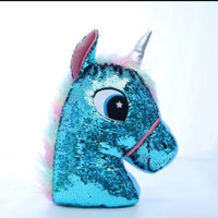 sequin unicorn pillow