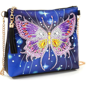 18 x 15 diamond painting rhinestone shoulder bag