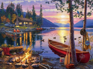 55 x 70 full square drill diamond painting - campfire - TLS-7116
