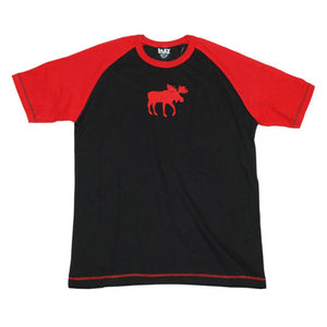 Lazy one  classic moose red adult pj top