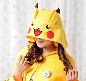 pikachu hooded blanket