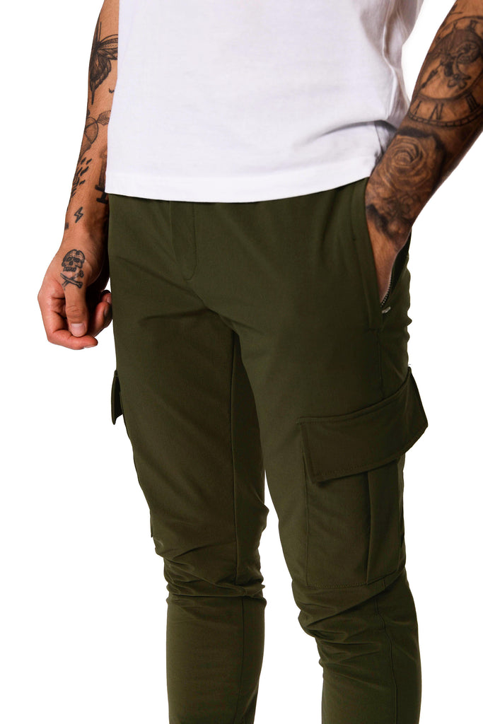 Cargo Tech Pants - Khaki