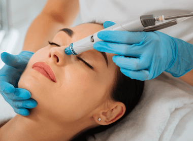 Hydrafacial with LED