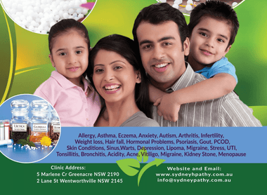 Homeopathic Treatment - Online