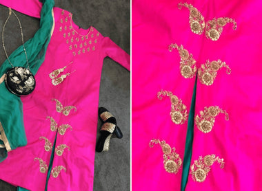 Embroidered Kameez with Pants