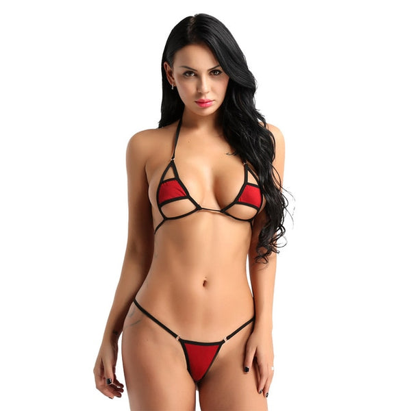 Women Halter Neck Lingerie Set