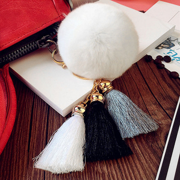 Fashionable Fluffy Pom Pom Keychain