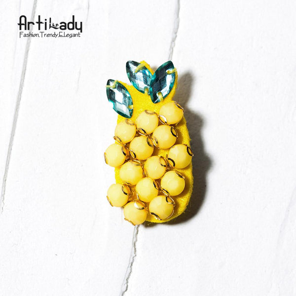 Artilady handmade crystal flower pins brooches