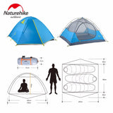 Naturehike 2-3 Person Double Door Waterproof Double Layer Tent - 2 Colors