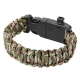Multifunctional Whistle Flint Thermometer Knitted Survival Bracelet