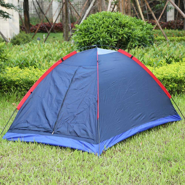 Two Person Outdoor Camping Tent Kit w/ Fiberglass Poles