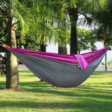 One Person Assorted Color Parachute Nylon Fabric Hammock with Strong Rope