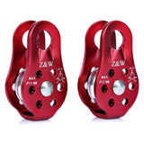 2pcs Mountaineering Rope Climbing Pulleys