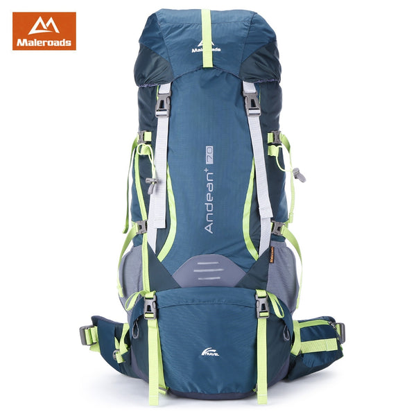 Maleroads 70L Water Resistant Backpack for Hiking & Camping
