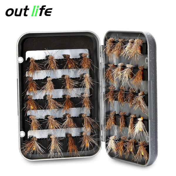 Outlife 27841 - A 40pcs Handmade Fly Fishing Insects Lures with Storage Box
