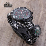 Multifunctional Survival Watch/Fire Starter