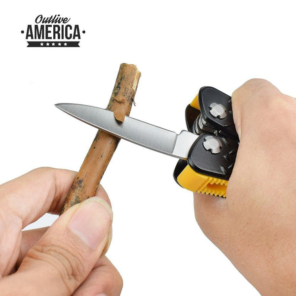 NEWACALOX Multifunction Pliers with Screwdriver kit Pocket Tools Camping Multi Tool Outdoor Survival Knife electric Crimping