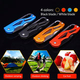 Outdoor Multifunction Foldable Pocket Knife Portable Keychain Ring Folding Knife Fruit Cutter Camping Survival Supplies Tool