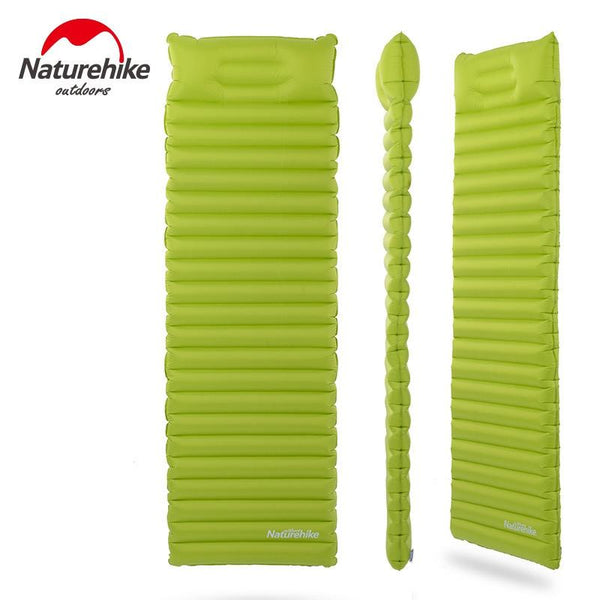 Naturehike Sleeping Pad Fast Filling Air Bag Super Light Camping Mat With Pillow Portable Beach Mat For Rescue Life Cushion 550g