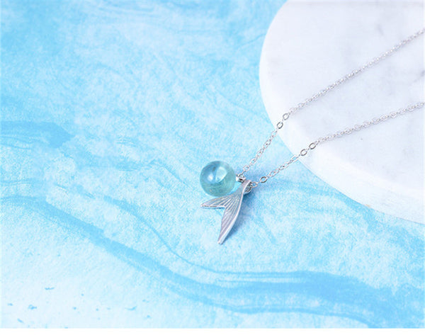 Sterling Silver Fish Fin Necklace