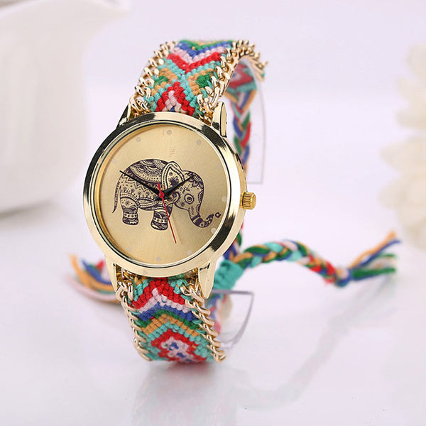 Elephant Woven Band Watch