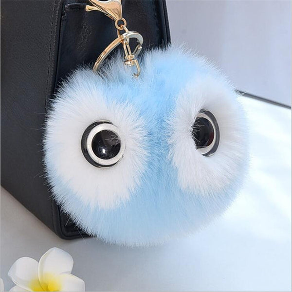 Cute, Fluffy, Fur Ball Key Chain