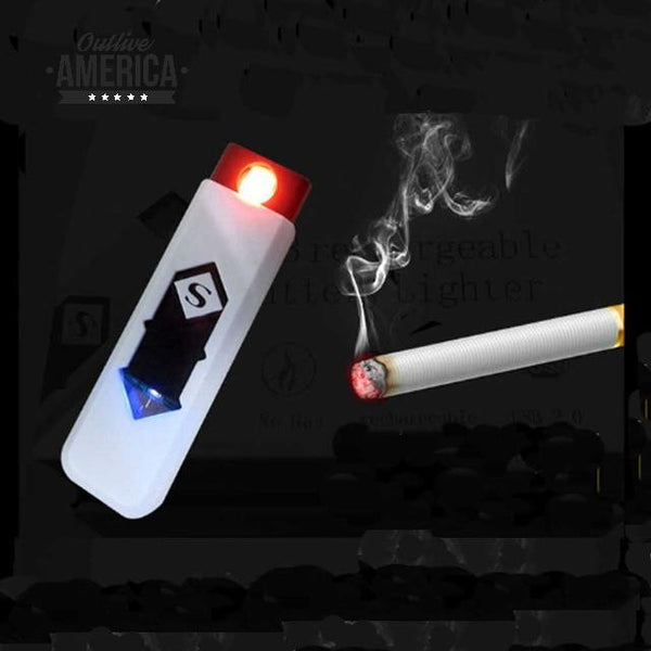 USB charging lighter small electronic cigarette lighter windproof good gift smokeless smoking accessories