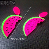 Trendy Watermelon Earrings