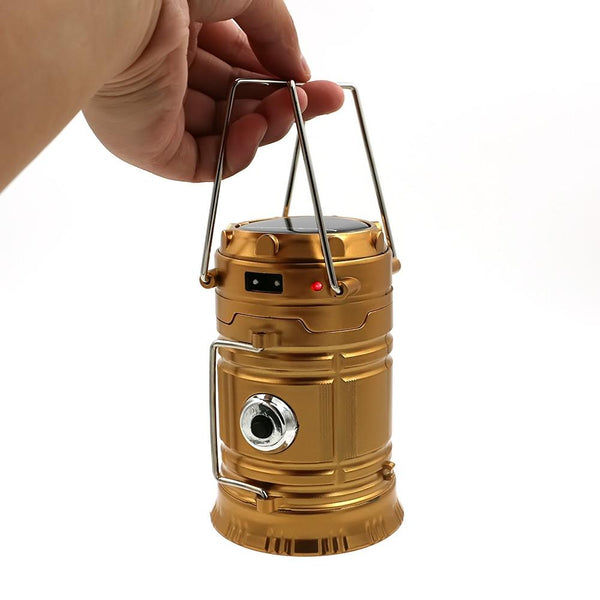 LED Solar Powered Collapsible Portable Lamp