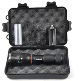 Tactical 1000 Lumens Flashlight - Zoomable, Waterproof With Hidden COB