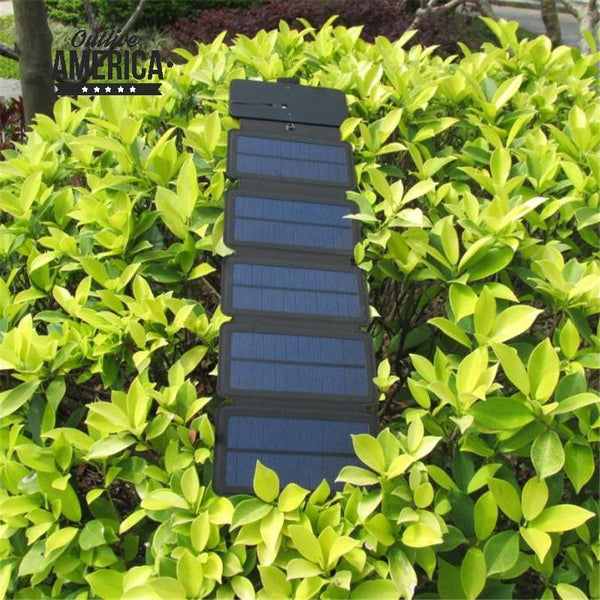 Lerranc Portable Folding 8-10W Solar Panels - USB Output Charger 5V 2.1A